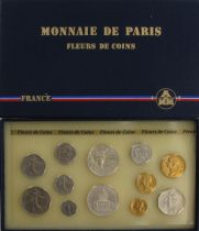France FDC.1986 Monnaie de Paris Uncirculated set 1986