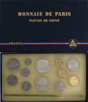 France FDC.1986 Monnaie de Paris Uncirculated set 1986