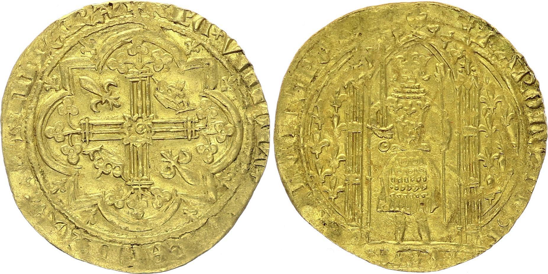 France Franc à Pied - Charles V Le Sage (Roi de 1364-1380) - TTB+