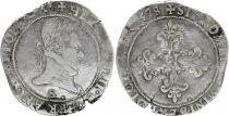 France Franc Henri III Col Plat - 1578 S Troyes - Argent