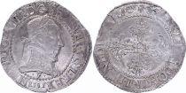 France Franc Henri III Col Plat - Argent - 1581 F Angers