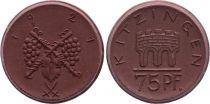 France Germany, Kitzingen - 75 Pfennig 1921 - XF+