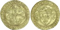 France Gold Ecu, Charles VII (1422-1461) - Tours - F to VF