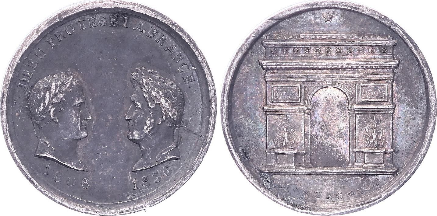France Inauguration Arc of Triomphe - 1836 - Napoleon I and  Louis Philippe ( 1806-1836) - 1836