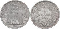 France KM.756.1 GAD.683 5 Francs, Hercules II e Republic - 1849 A Paris