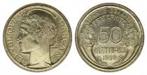 France KM.894.1 GAD.423 50 Centimes, Laureate head - 1939