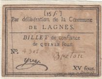 France Lagnes Commune - 1791