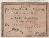 France Lagnes Commune - 1791