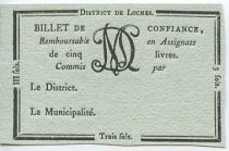 France Loches Loches District - 1792, R5 Rare !