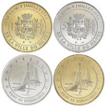 France Lot 1 and 3 Euro temporary of Le Havre 1996 - AU