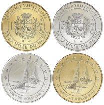 France Lot 1 et 3 Euro temporaire du Havre 1996 - SPL