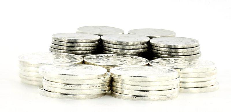France Lot 1 KG monnaies en argent  - 100 Francs Commémo et 1 Franc Semeuse