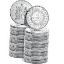 France Lot 20 x 10 Francs Hercule - Argent 1965 à 1967 soit 500 grammes de Pièces
