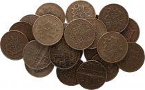France Lot 5 x 10 Francs Mathieu - années variées 1974 à 1987