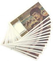 France Lot of  16 x 20 Francs Debussy - 1980 to 1997 - UNC