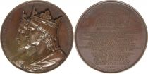 France Louis III et Carloman II  -  Série des rois de France par Caqué - 1839