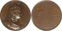 France Louis V dit Le Fainéant  -  Série des rois de France par Caqué - 1838