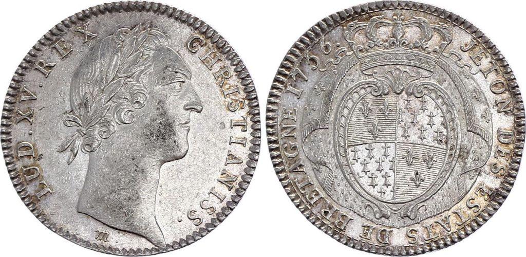 France Louis XV - Etats de Bretagne (Rennes) - 1756