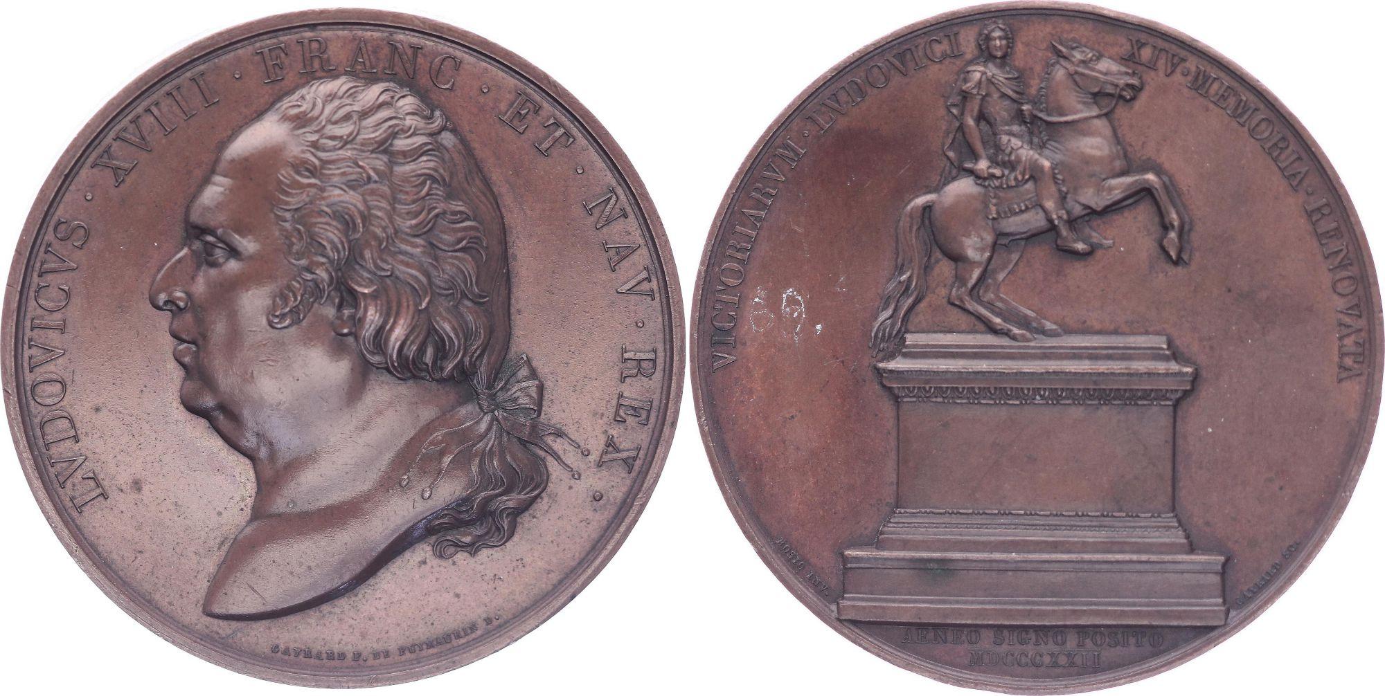 France Louis XVIII - Place des Victoires Paris - 1822