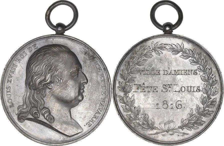 France Louis XVIII - Ville d\'Amiens Fêtes de Saint-Louis - 1815 par Andrieu