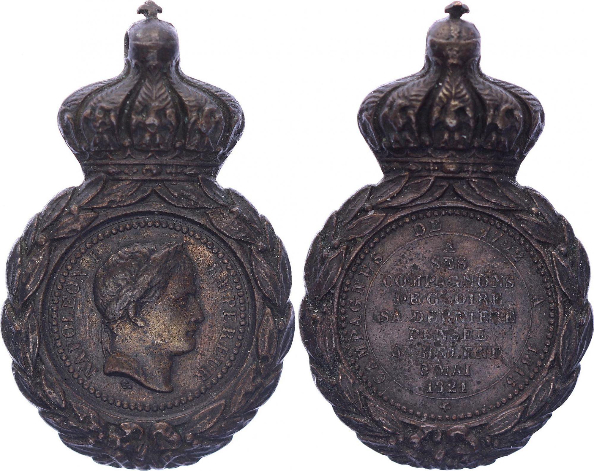 France Médaille de Sainte-Hélène - Napoléon I (1792-1815) - sans ruban ni fixation