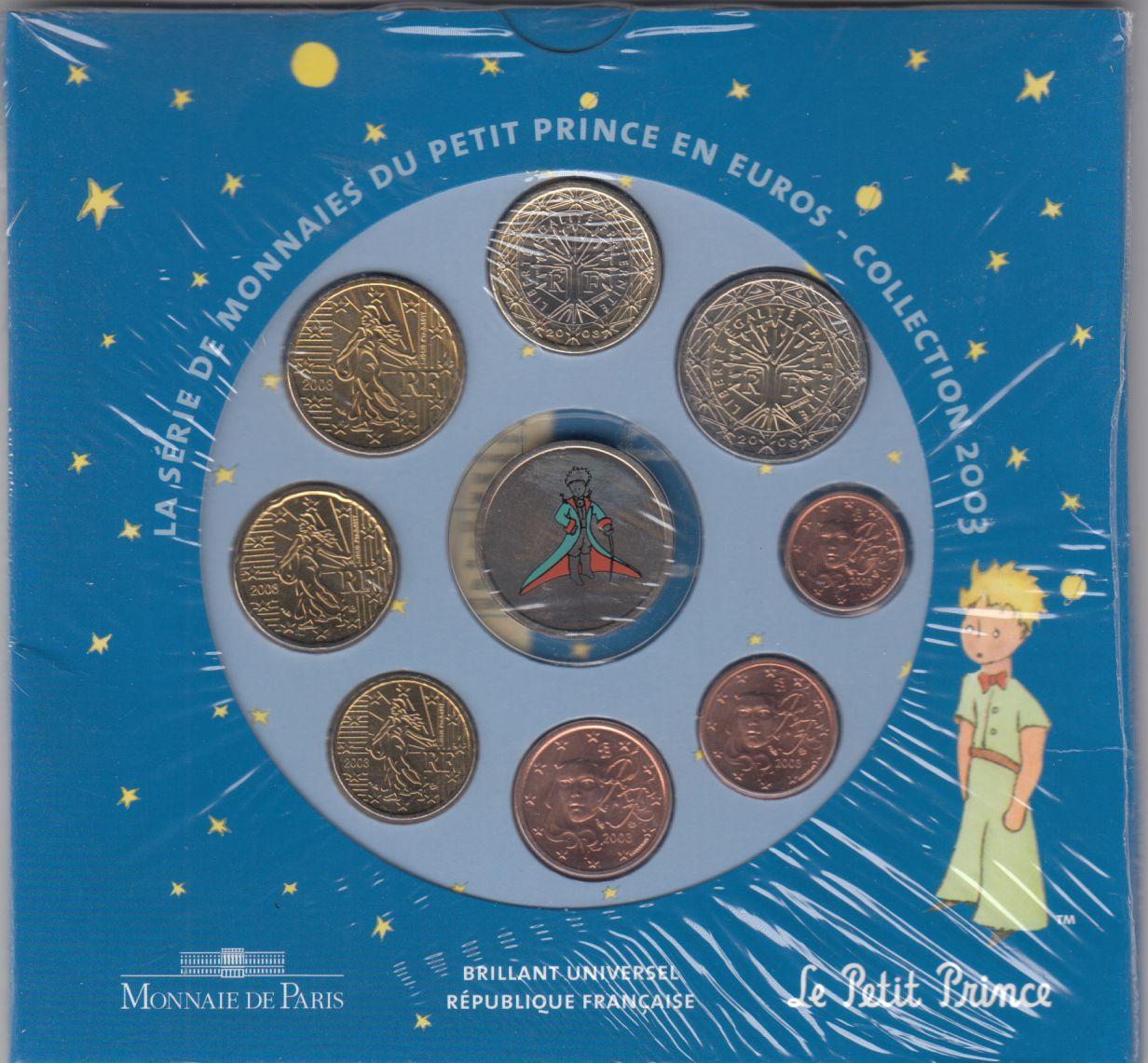 France Monnaie de Paris BU Set 2003 Petit Prince
