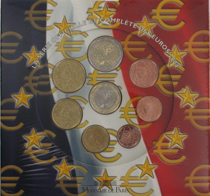 France Monnaie de Paris BU Set 2004