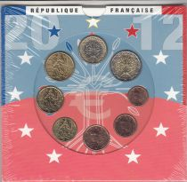 France Monnaie de Paris BU Set 2012 -  8 coins