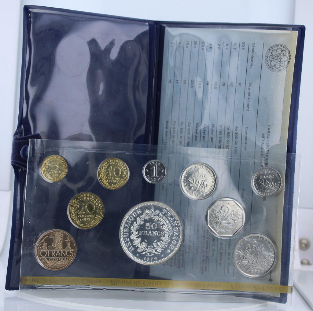 France Monnaie de Paris Uncirculated set - 10 coins -1979