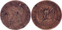 France Monnaie satirique Napoléon III - Module de 5 cts - Sedan 1870