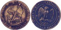 France Monnaie satirique Napoléon III le misérable - Sedan 1870 - 4e ex.