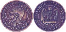 France Monnaie satirique Napoléon III le misérable - Sedan 1870 - 7e ex.