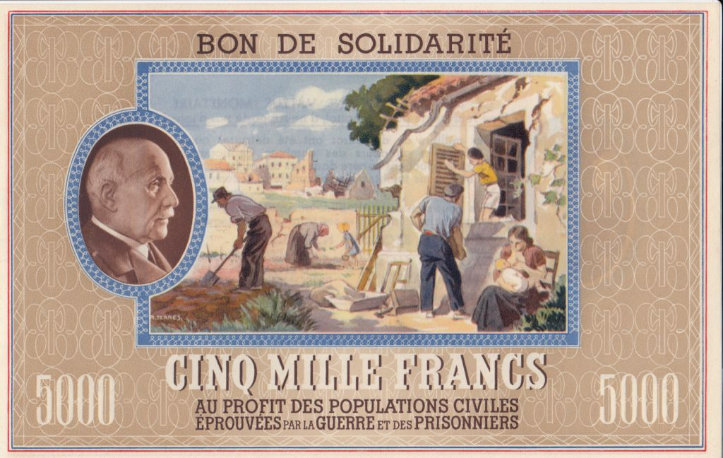France Necessity note of WWII - Pétain - 1941 / 1942