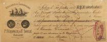 France P. Béranger & F.Soulié, Huilerie et Savonnerie  - Mandat 1886 - Salon (Bouches-du-Rhône) - TB