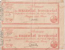 France Paire 100 Francs Mandat Territorial avec série - 28 Ventose An IV (18.03.1796) - TB+ Série 27