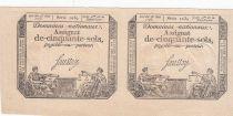 France Paire 50 Sols Liberté et Justice (23-05-1793) - Série 1039