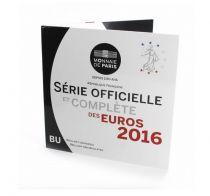 France Proof BU Set 2016 -  8 Euros coins 1 cent to 2  Euros