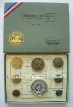 France Proof set - Monnaie de Paris Uncirculated 1971 8 coins