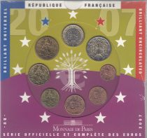 France Proof set BU 2007 - 8 coins in Euros