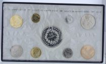 France Proof set Monnaie de Paris Uncirculated 1974 - 8 coins