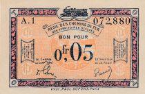 France R.1 0.05 Franc, Franco-Belgian Railways - 1923