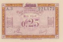 France R.3 0.25 Franc, Territoires Occupés - 1923
