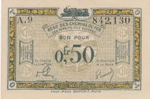 France R.4 0.50 Francs, Franco-Belgian Railways - 1923
