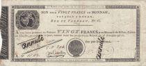 France Rouen Caisse d\'échange des Monnaies Rouen - An 12