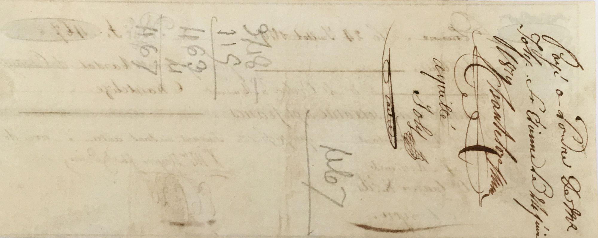 France Saint-Etienne - Mandat de Change 1819 -  TTB+