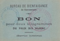 France Sans valeur Carcassonne Bon pour 2 Kg de pain bis blanc
