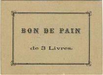 France Sans valeur La-Flèche Bon de pain de 3 livres.Maison Tonnellier
