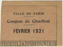 France Sans valeur Paris Coupon de charbon