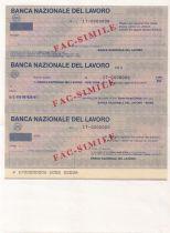 France Série 3 chèques de la Banca Nazionale del Lavoro - 1981