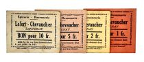 France Set 4Notes - Lefert - Chevaucher - 1914-1918 - Santenay